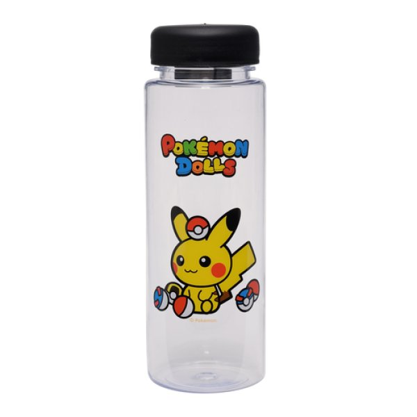 Photo1: Pokemon Center 2018 POKEMON DOLLS Clear Bottle 500ml (1)