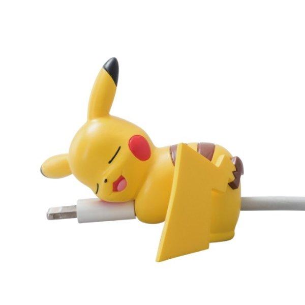 Photo1: Pokemon 2018 Suyasuya on the cable Cord Keeper Sleeping Pikachu Mini Figure (1)