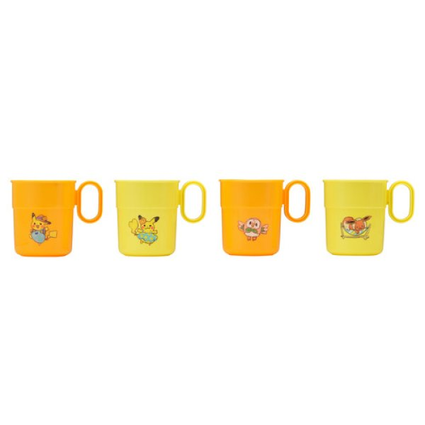 Photo1: Pokemon Center 2018 Pokemon Summer Life cup 4 pieces (1)