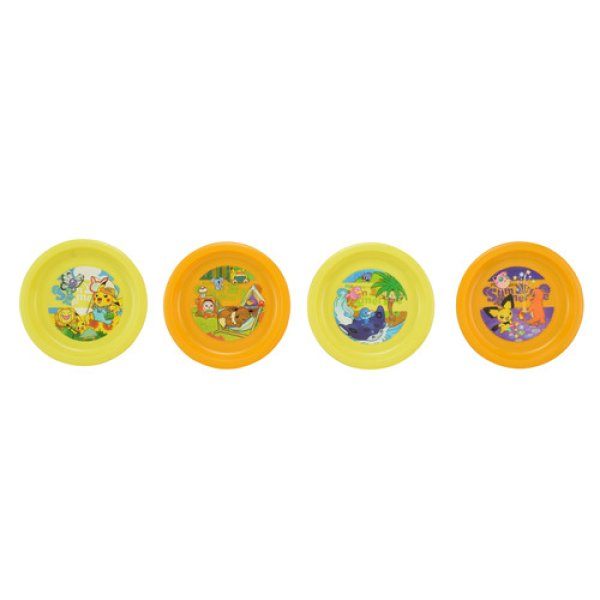 Photo1: Pokemon Center 2018 Pokemon Summer Life Plate 4 pieces (1)