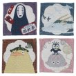 Photo1: Studio Ghibli Fabric coasters Set of 4 Spirited Away (1)