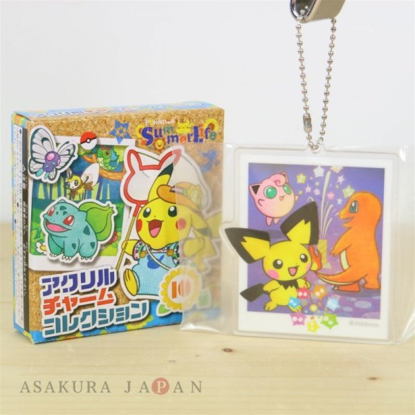 Photo1: Pokemon Center 2018 Pokemon Summer Life Acrylic Charm Key Chain #7 (1)