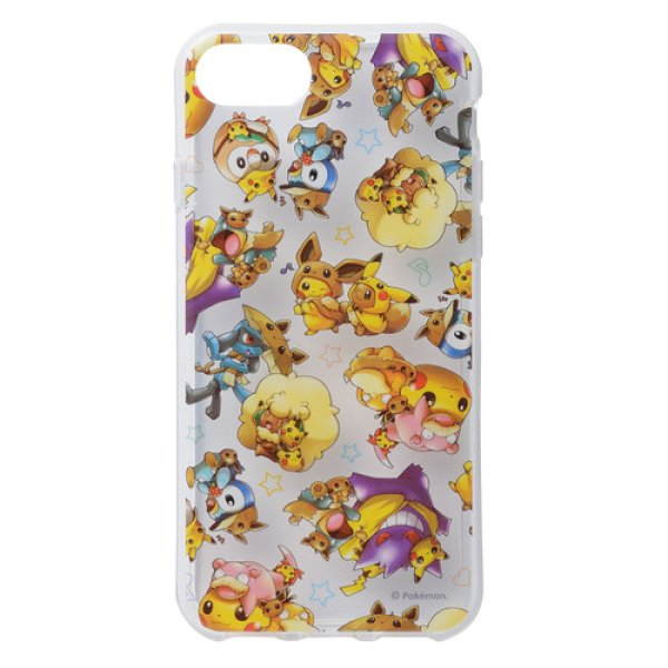 Photo1: Pokemon Center 2018 FAN OF PIKACHU & EEVEE Soft jacket for iPhone 8/7/6s/6 case (1)