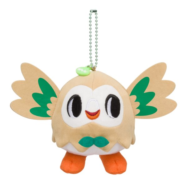 Photo1: Pokemon Center 2018 pokemon time Rowlet Plush Mascot Key Chain (1)