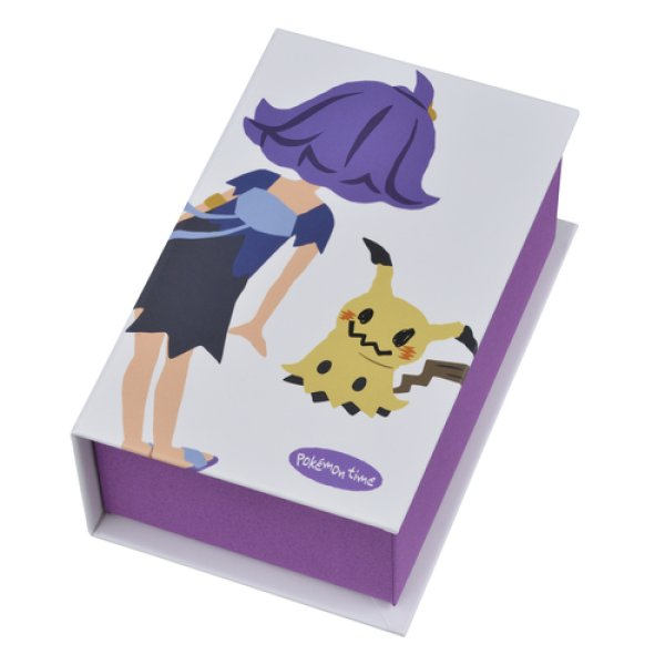 Photo1: Pokemon Center 2018 pokemon time Book Shaped Memo Pad Acerola Mimikyu Notepad (1)