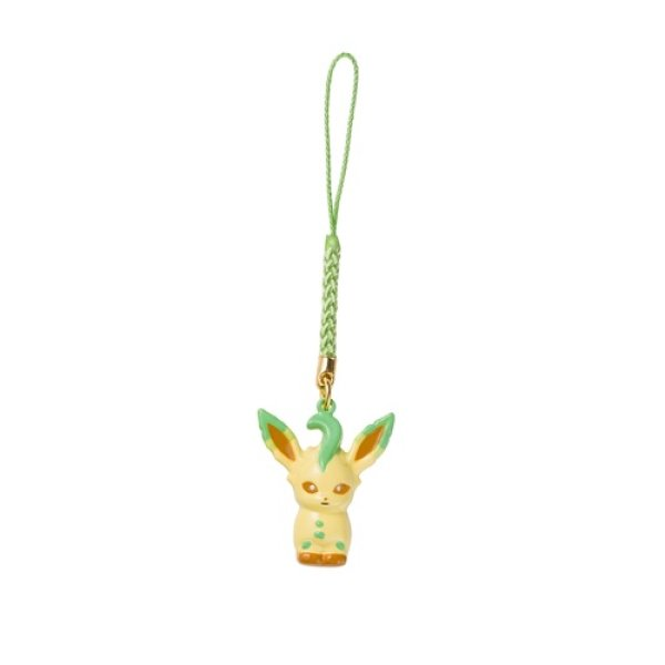 Photo1: Pokemon Center 2018 Bell Charm Strap Leafeon (1)