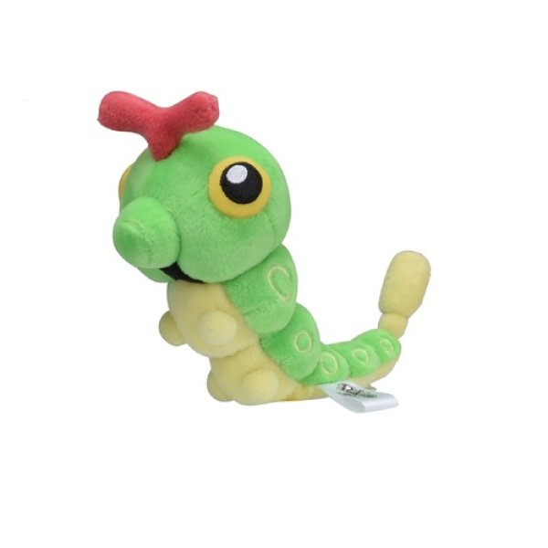Photo1: Pokemon Center 2018 Pokemon fit Mini Plush #10 Caterpie doll Toy (1)