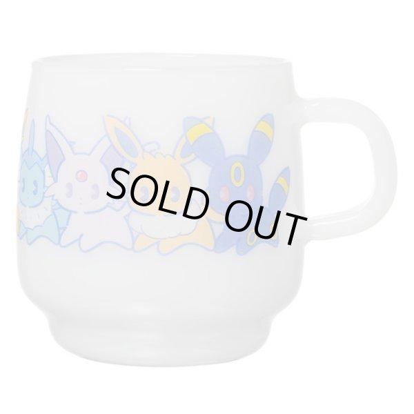 Photo1: Pokemon Center 2019 MIX AU LAIT Heat-resistant glass mug Eevee evolutions (1)