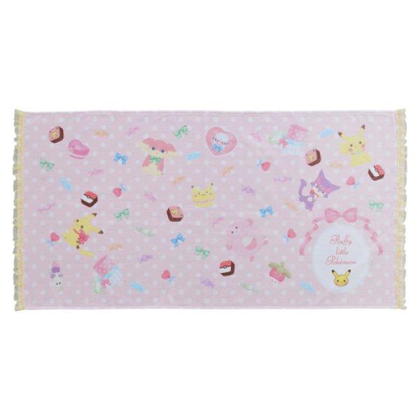 Photo1: Pokemon Center 2019 fluffy little pokemon Mini Bath towel (1)