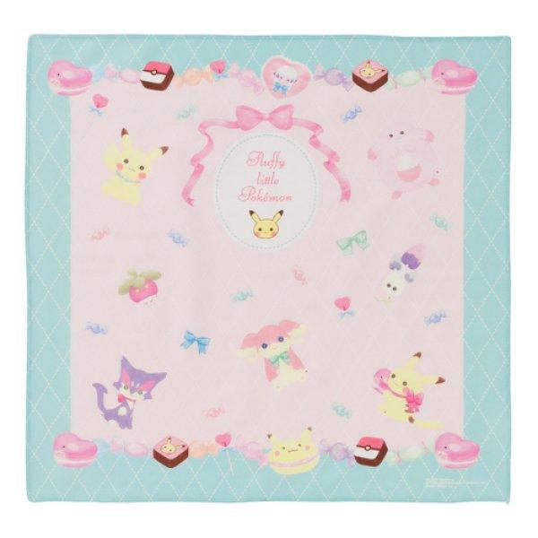 Photo1: Pokemon Center 2019 fluffy little pokemon Handkerchief B (1)
