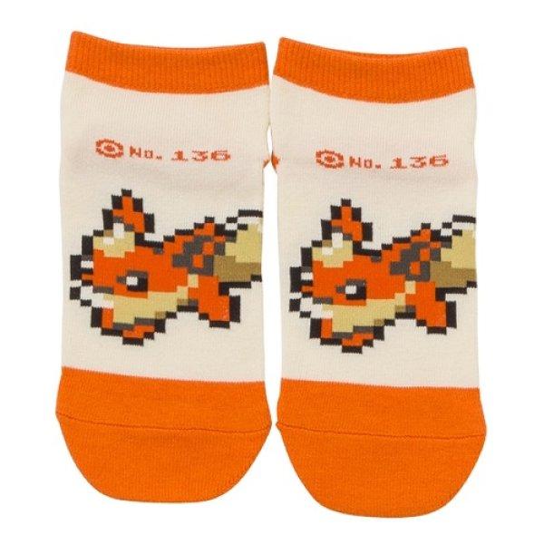 Photo1: Pokemon Center 2019 Eevee DOT COLLECTION Flareon Socks for Women 23 - 25 cm 1 Pair (1)
