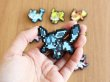 Photo3: Pokemon Center 2019 Eevee DOT COLLECTION Rubber Pins Flareon pin badge (3)