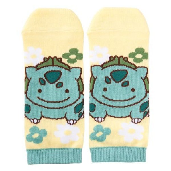 Photo1: Pokemon Center 2017 Transform Ditto Bulbasaur Socks for Women 23 - 25 cm 1 Pair (1)