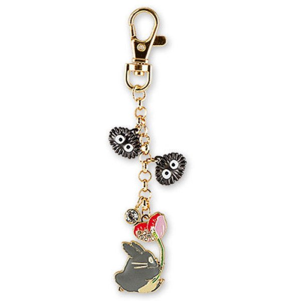 Photo1: Studio Ghibli My Neighbor Totoro Metal charm Key chain Dai Totoro Flower (1)