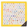 Photo1: Pokemon Center 2018 Dot Pixel Pokemon Handkerchief yellow (1)