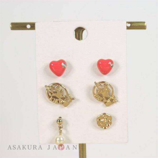 Photo1: Studio Ghibli Accessory Kiki's Delivery Service Pierced Earrings 22253 Kiki 6 pcs (1)