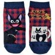 Photo1: Studio Ghibli Kiki's Delivery Service Socks for Women 23-25cm 1Pair 608 Asymmetry Jiji Red (1)