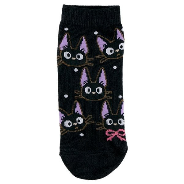 Photo1: Studio Ghibli Kiki's Delivery Service Socks for Women 23-25cm 1Pair 615 Jiji Ippai Black (1)