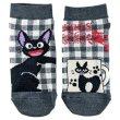 Photo1: Studio Ghibli Kiki's Delivery Service Socks for Women 23-25cm 1Pair 609 Asymmetry Jiji Gray (1)