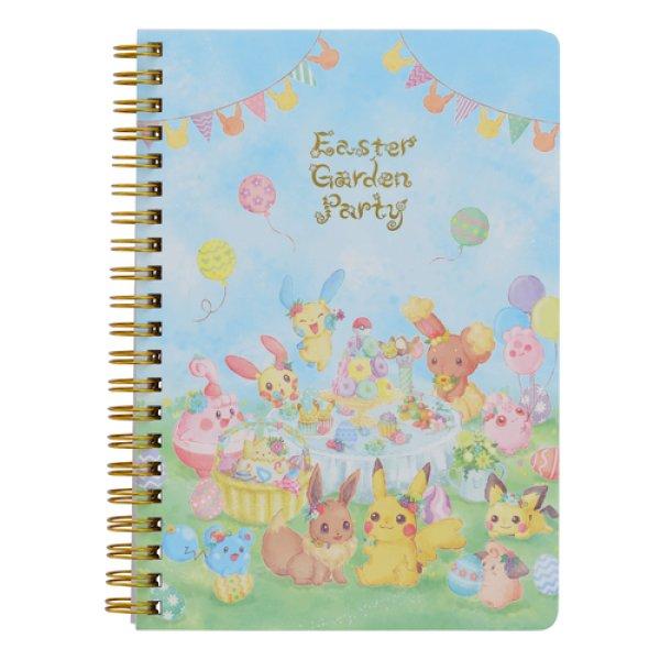 Photo1: Pokemon Center 2019 Easter Garden Party B6 Size Spiral Notebook (1)