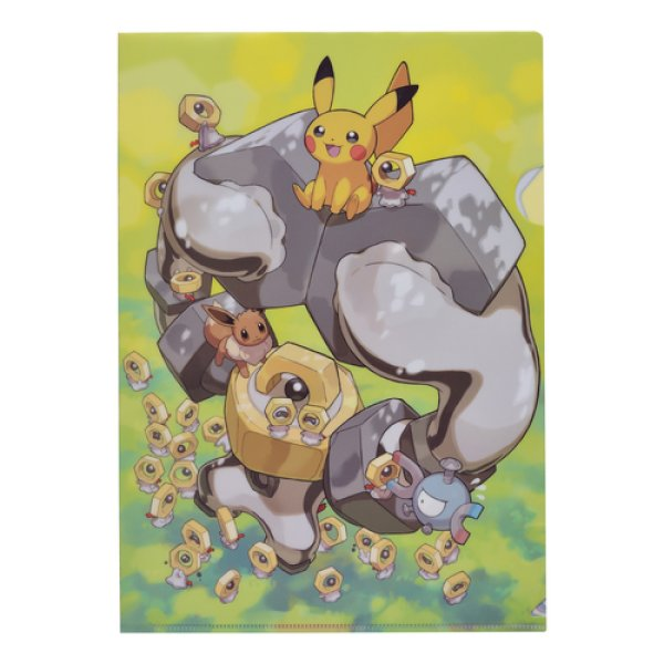 Photo1: Pokemon Center 2019 Meltan and Melmetal A4 Size Clear File Folder  (1)