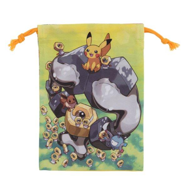 Photo1: Pokemon Center 2019 Meltan and Melmetal Drawstring Bag pouch M size (1)