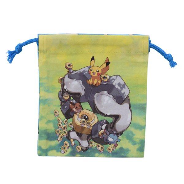 Photo1: Pokemon Center 2019 Meltan and Melmetal Drawstring Bag pouch S size (1)