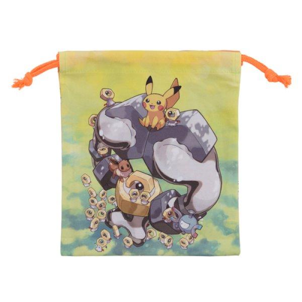 Photo1: Pokemon Center 2019 Meltan and Melmetal Drawstring Bag pouch L size (1)