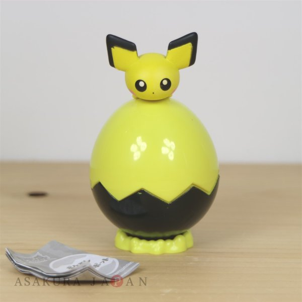 Photo1: Pokemon 2019 Pokemon and Egg Pot Pichu Mini Figure Capsule case TAKARA TOMY (1)
