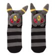 Photo1: Pokemon Center 2019 Plush Socks for Women 23 - 25 cm 1 Pair Umbreon (1)