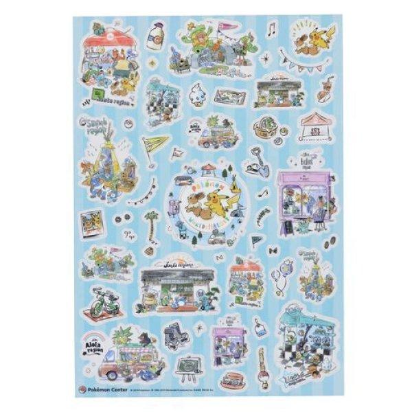 Photo1: Pokemon Center 2019 Pokemon World Market Sticker Sheet (1)