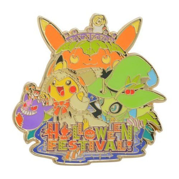 Photo1: Pokemon Center 2019 Halloween Festival Logo Pin Badge Pins (1)