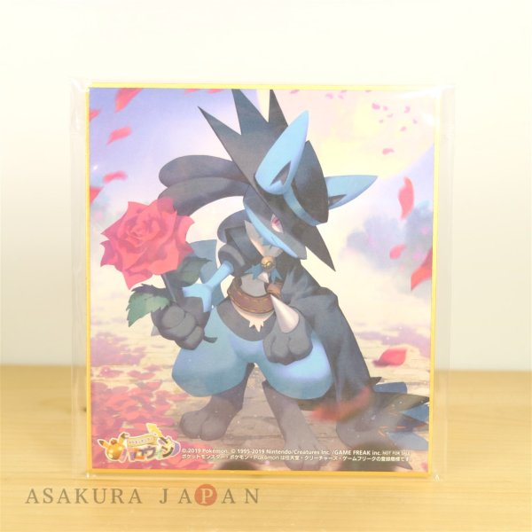 Photo1: Pokemon Center 2019 Halloween Festival Trainer Riley Lucario Shikishi Art picture #1 (1)