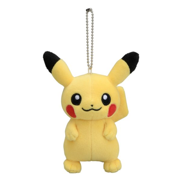 Photo1: Pokemon Center 2019 Plush Mascot Key Chain Pikachu Standing (1)