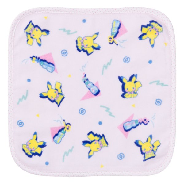 Photo1: Pokemon Center 2019 SAIKO SODA Hand towel Handkerchief Pikachu (1)