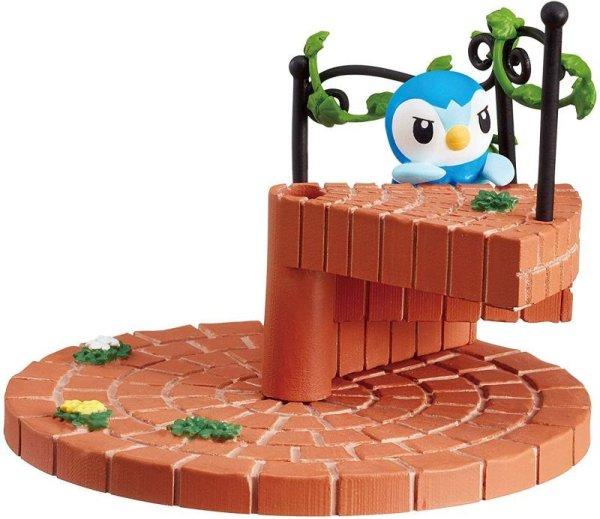 Photo1: Pokemon 2019 Tsunagete Kawaii! Pokemon's Steps Staircase #3 Piplup Figure (1)