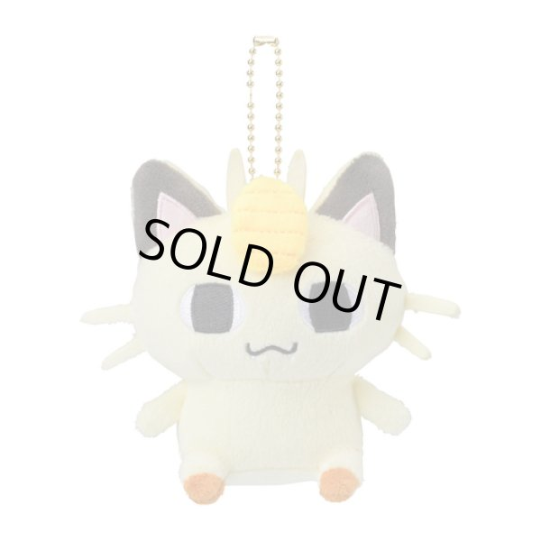 Photo1: Pokemon Center 2019 24 Hours Pokemon CHU Plush Mascot Key Chain Meowth (1)