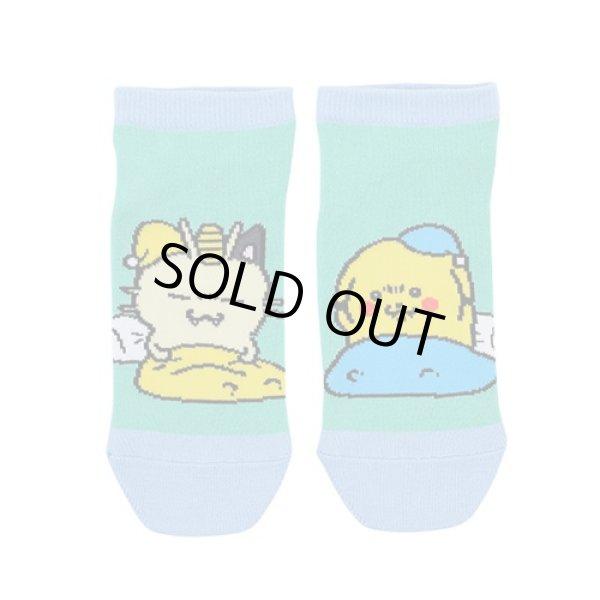 Photo1: Pokemon Center 2019 24 Hours Pokemon CHU Socks for Women 23 - 25 cm 1 Pair Meowth & Pikachu (1)