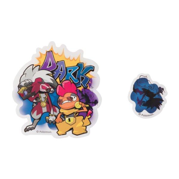Photo1: Pokemon Center 2019 POKEMON BAND FES Sticker Sheet Dark (1)