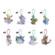 Photo3: Pokemon Center 2019 Frosty Christmas Acrylic Charm Key chain #6 Leafeon Glaceon Morelull (3)