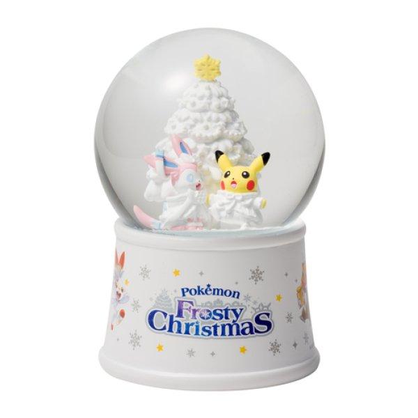 Photo1: Pokemon Center 2019 Frosty Christmas Snow globe (1)