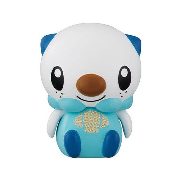 Photo1: Pokemon 2019 BANDAI Colle chara ! vol.1 #6 Oshawott Mini Figure with name pedestal (1)