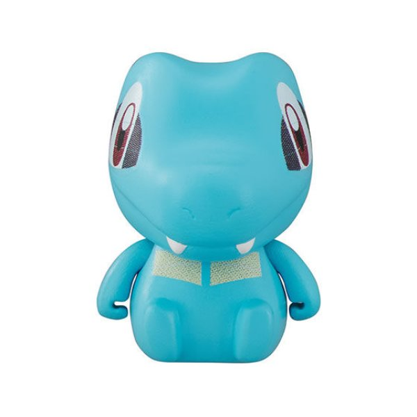 Photo1: Pokemon 2019 BANDAI Colle chara ! vol.1 #4 Totodile Mini Figure with name pedestal (1)