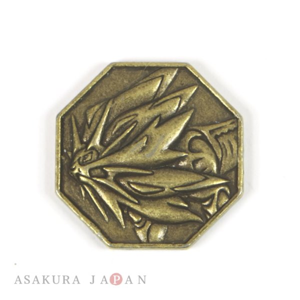 Photo1: Pokemon 2016 Metal Collection Sun & Moon Solgaleo Coin (Bronze Version) (1)