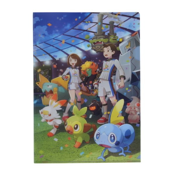 Photo1: Pokemon Center 2019 THE GALAR POKEMON LEAGUE!! A4 Size Clear File Folder (1)