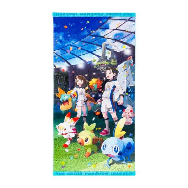 Photo1: Pokemon Center 2019 THE GALAR POKEMON LEAGUE!! Mini Bath towel (1)