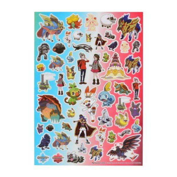 Photo1: Pokemon Center 2019 SWORD & SHIELD Sticker Sheet (1)