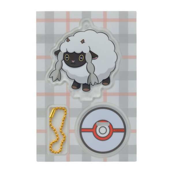 Photo1: Pokemon Center 2019 Acrylic Stand Key Chain Wooloo (1)