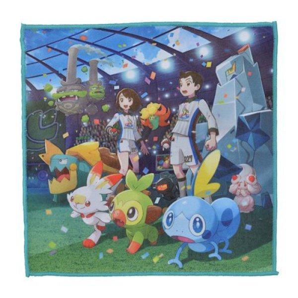 Photo1: Pokemon Center 2019 THE GALAR POKEMON LEAGUE!! microfiber Hand towel Handkerchief (1)
