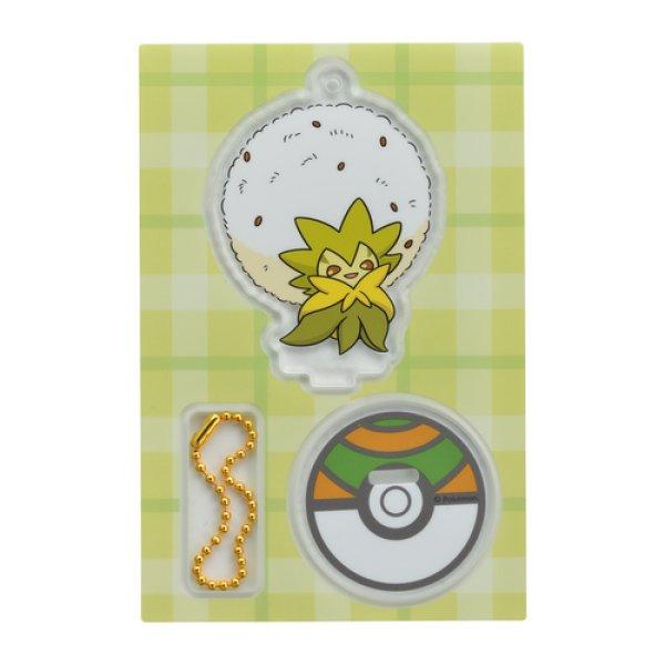 Photo1: Pokemon Center 2019 Acrylic Stand Key Chain Eldegoss (1)